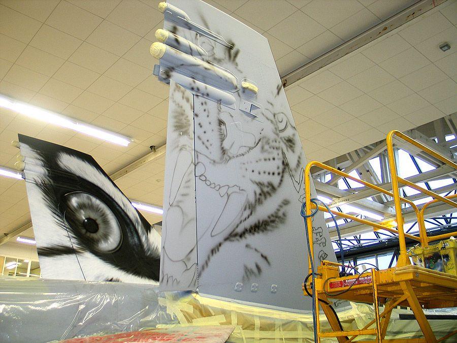 Airbrush-Bilder für Flugzeuge
