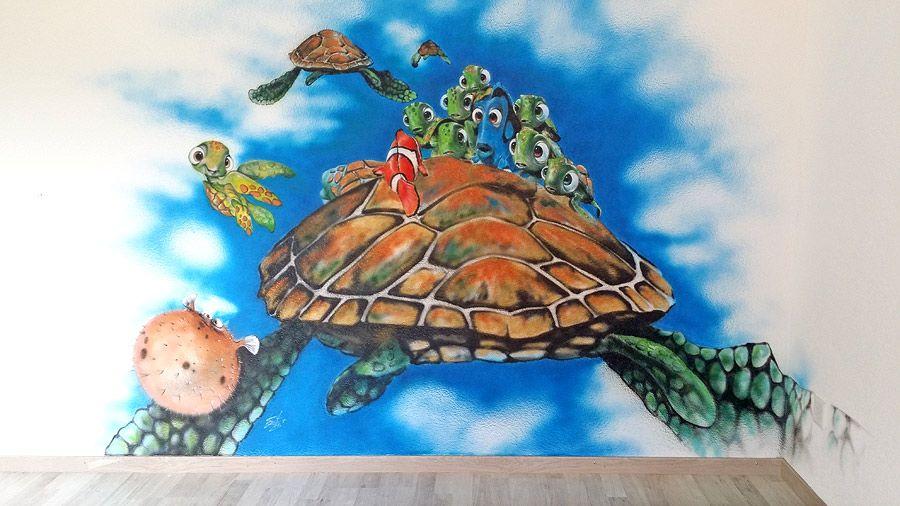 Airbrush-Wandmalerei