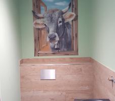 Badezimmer - gemaltes Fenster