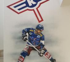 Eis-Hockey-Spieler