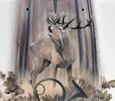 Haube mit Jägermotiv