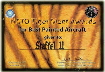 NATO Tiger Meet Awards for Best Painted Aircraft, Sept. 2007